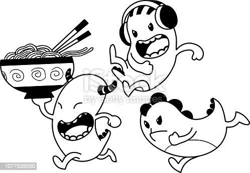 Imagen De Doodle De Monstruo Para Colorear Libro Vector