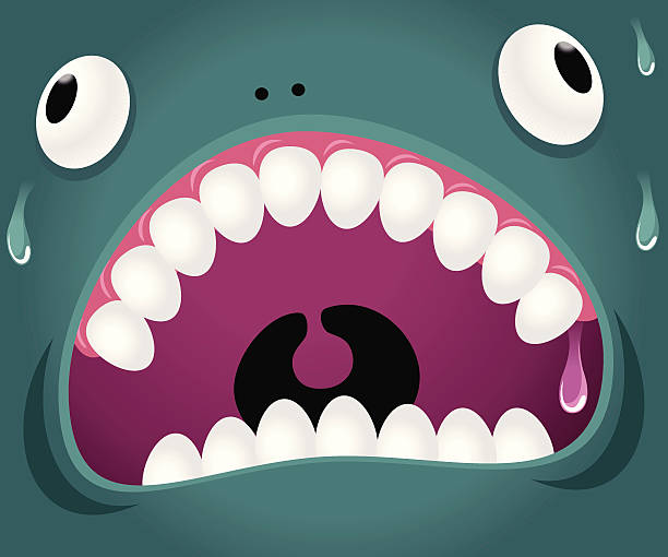 Monster Emotion: Crazy vector art illustration