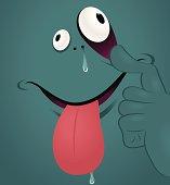 Vector illustration - Monster Emotion: make a face.