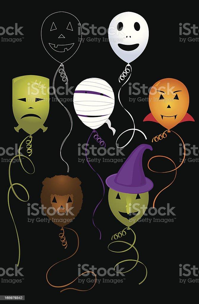 Monster Face Balloons royalty-free stock vector art