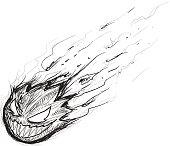 Monster Fireball Sketch