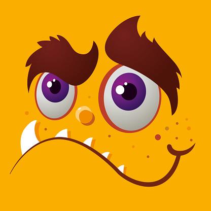 Monster Happy Face Cartoon