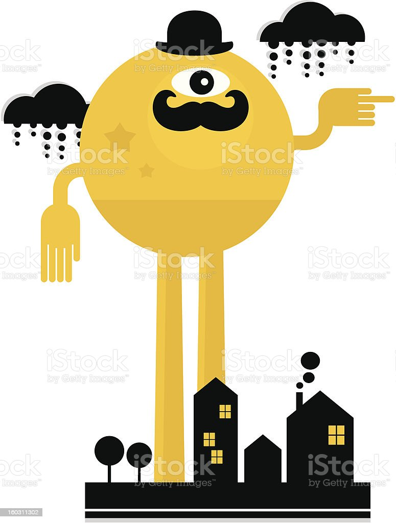 Monster in the city. royalty-free stock vector art