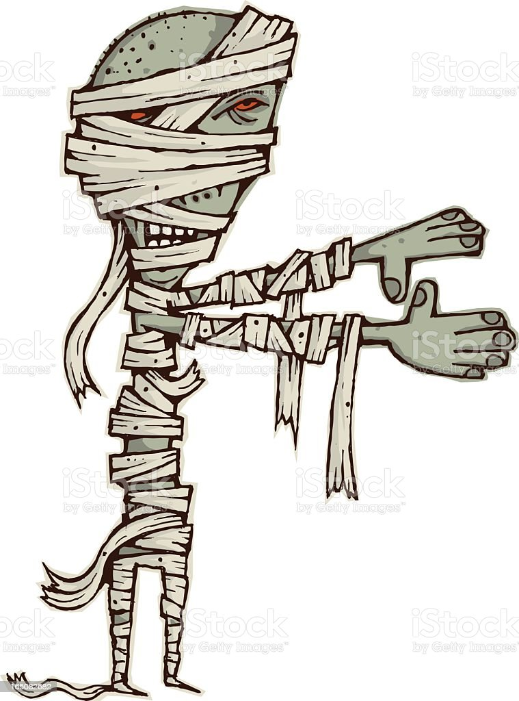 Monster Mummy royalty-free stock vector art