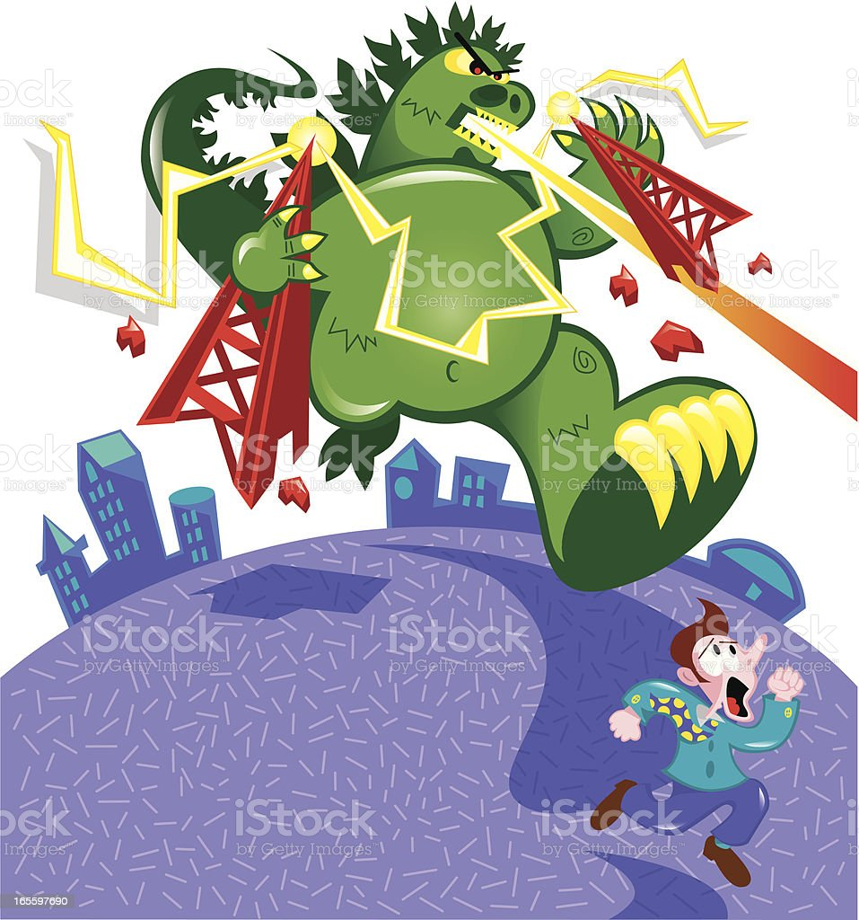 monster on a rampage royalty-free monster on a rampage stock vector art & more images of animal