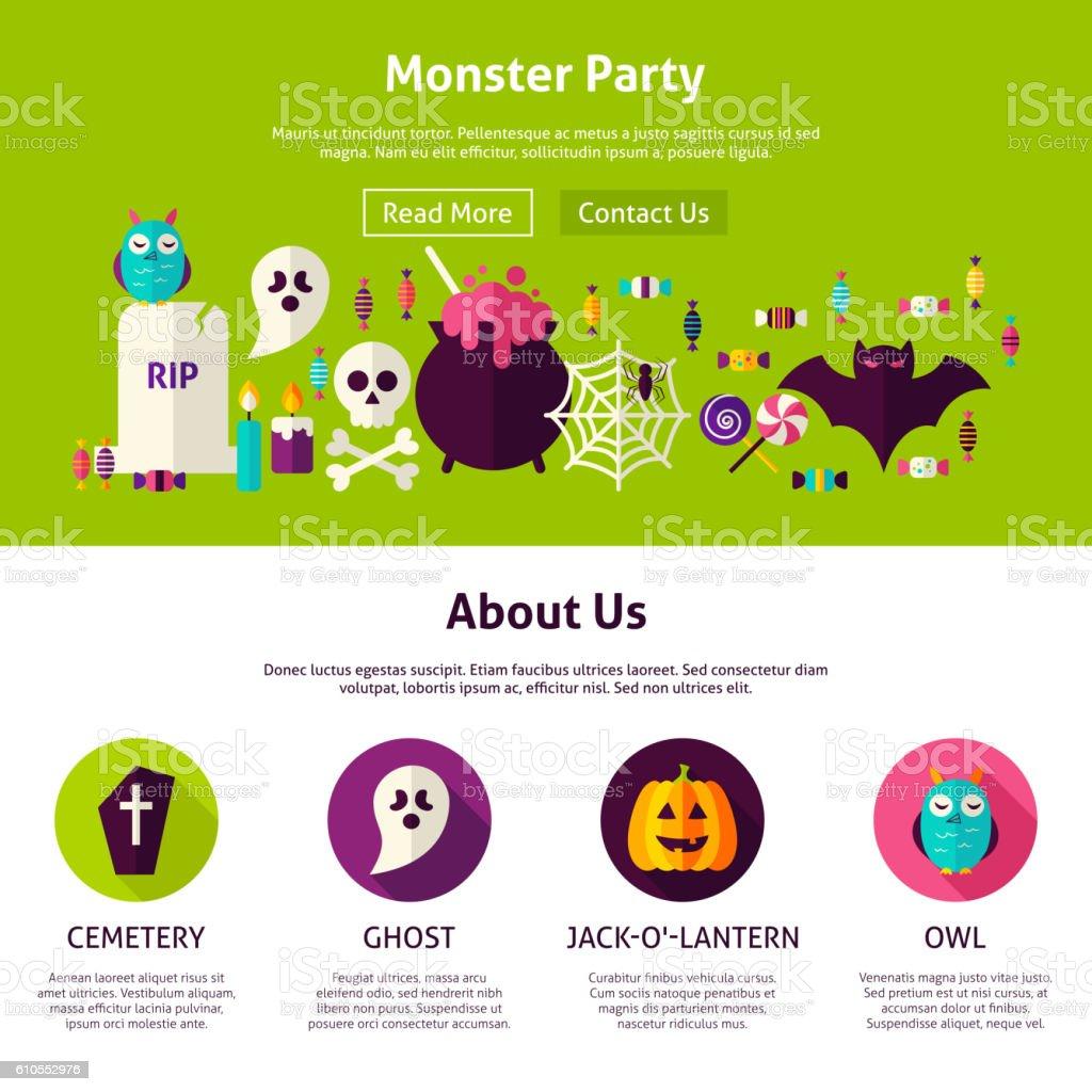 monster party web design template stock vector art 610552976 istock