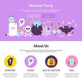 Monster Party Website Design