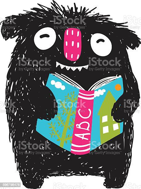 Monster reading abc book cartoon for kids vector id596798476?b=1&k=6&m=596798476&s=612x612&h=4eqru2m3hqqixc6a9 k2xtrsc5qnfdxzhtowaseeqma=
