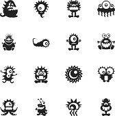 Monster Silhouette Icons