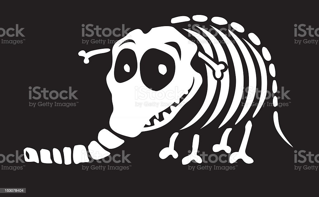 Monster Skeleton Elephant royalty-free stock vector art