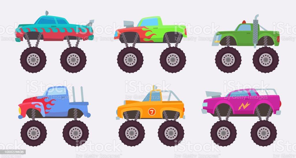 Ilustracion De Carro De Monstruo Ilustraciones De Vectores De