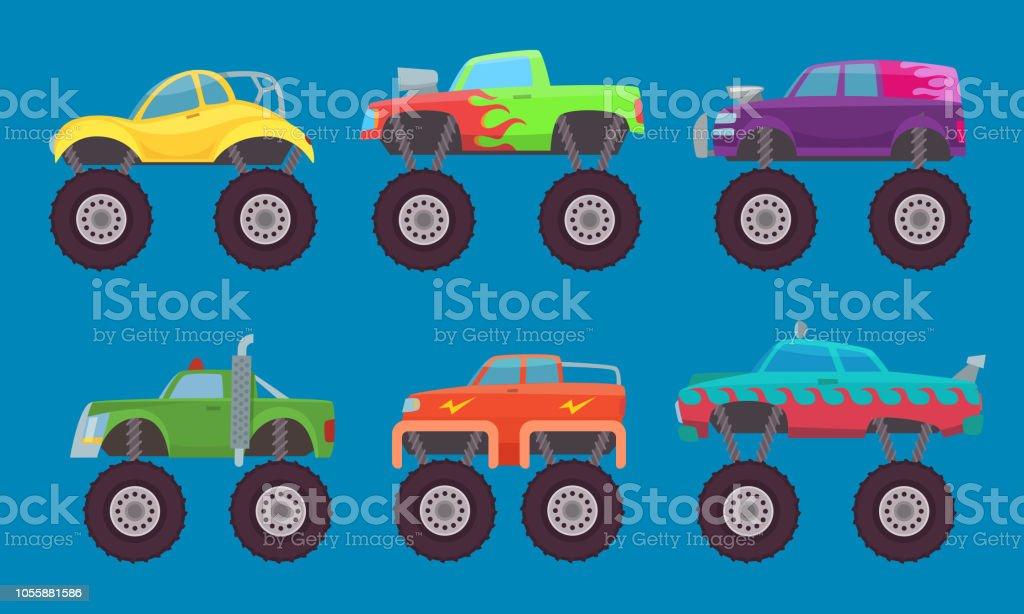 Monster Lkw Autos Autos Mit Grossen Radern Kreatur Auto Spielzeug Fur