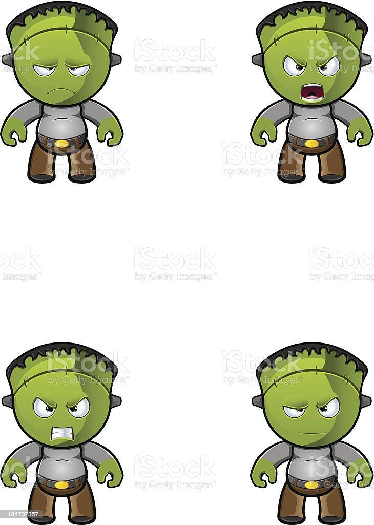 Monster - Unhappy royalty-free stock vector art