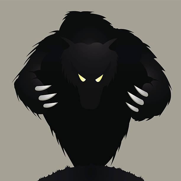 Monster Monster, bear or werewolf. aggression stock illustrations
