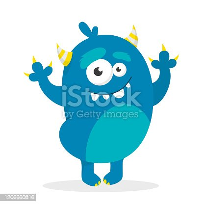 istock Monster vector isolated. Colorful and cute creature. 1206660816