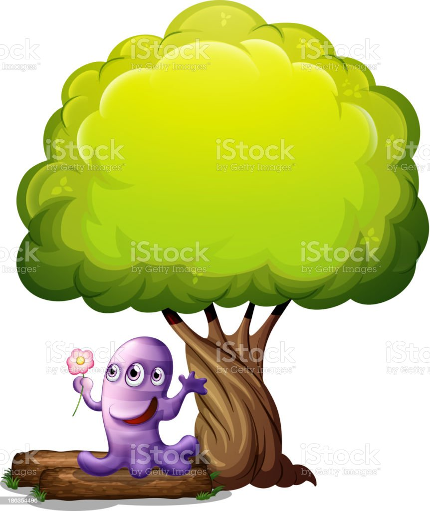 Monster With A Flower Standing Under The Big Tree Stock Illustration Download Image Now Istock 2020 popular 1 trends in home & garden, jewelry & accessories, toys & hobbies, men's clothing with monster tree and 1. 2