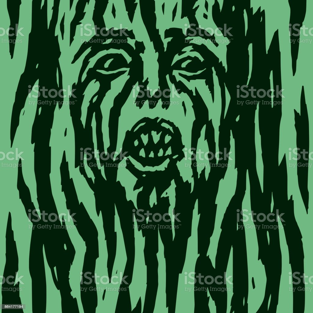 A monster with a woman's face growing out of a tree. Vector illustration. royalty-free a monster with a womans face growing out of a tree vector illustration stock vector art & more images of abstract