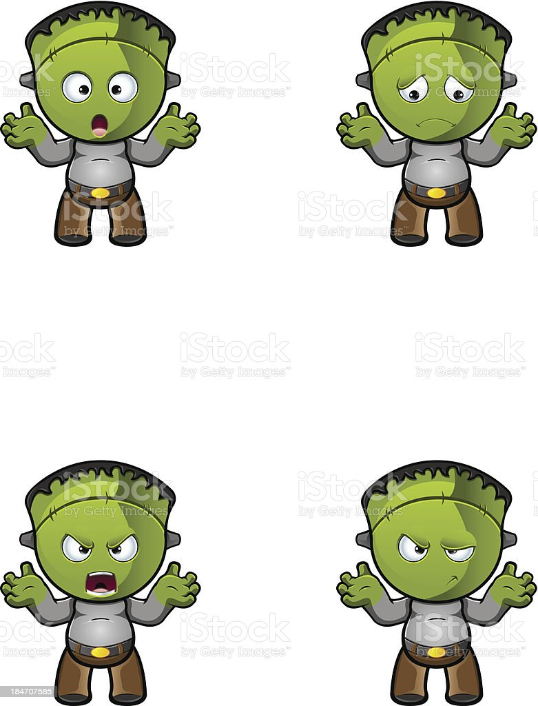 Monster - With Arms Up royalty-free monster with arms up stock vector art & more images of animal