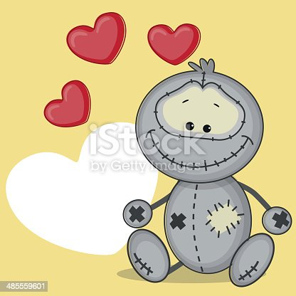 Monster holding heart in his hand
