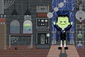 istock Monster-Boy in Laboratory 136541845