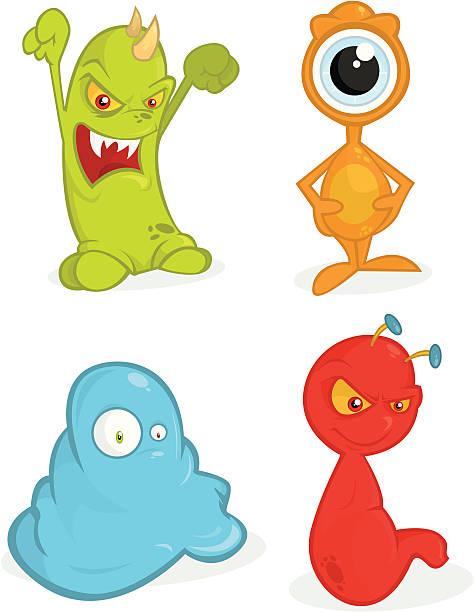 Monsters Ball vector art illustration