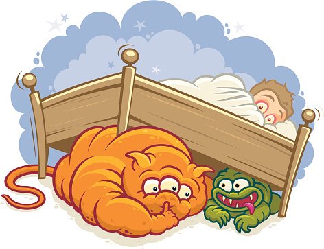 Monsters Under The Bed-vektorgrafik och fler bilder på Barn