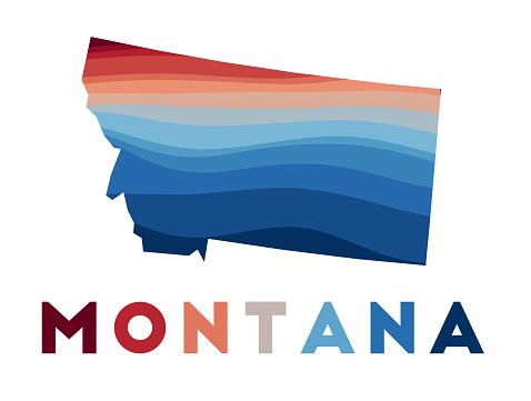 Montana map.