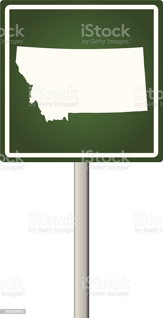 Montana Sign royalty-free stock vector art