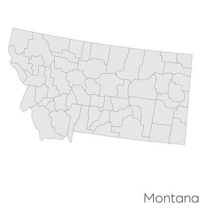 Montana state counties map