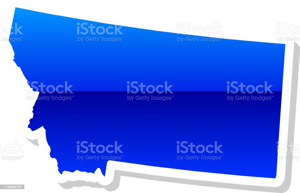 Montana State in 3 colors royalty-free stock vector art