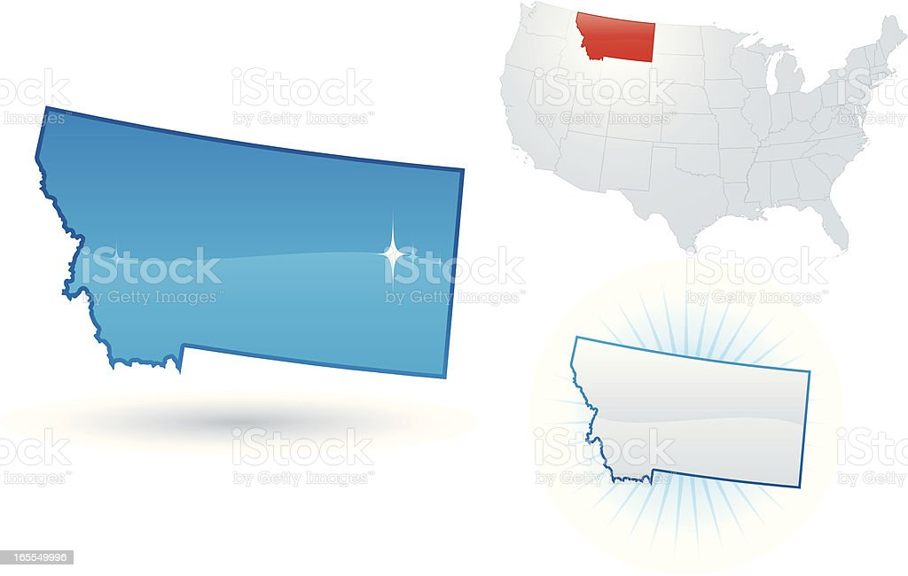 Montana State royalty-free stock vector art