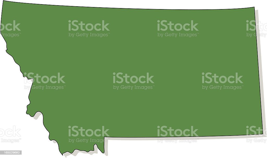 Montana royalty-free stock vector art