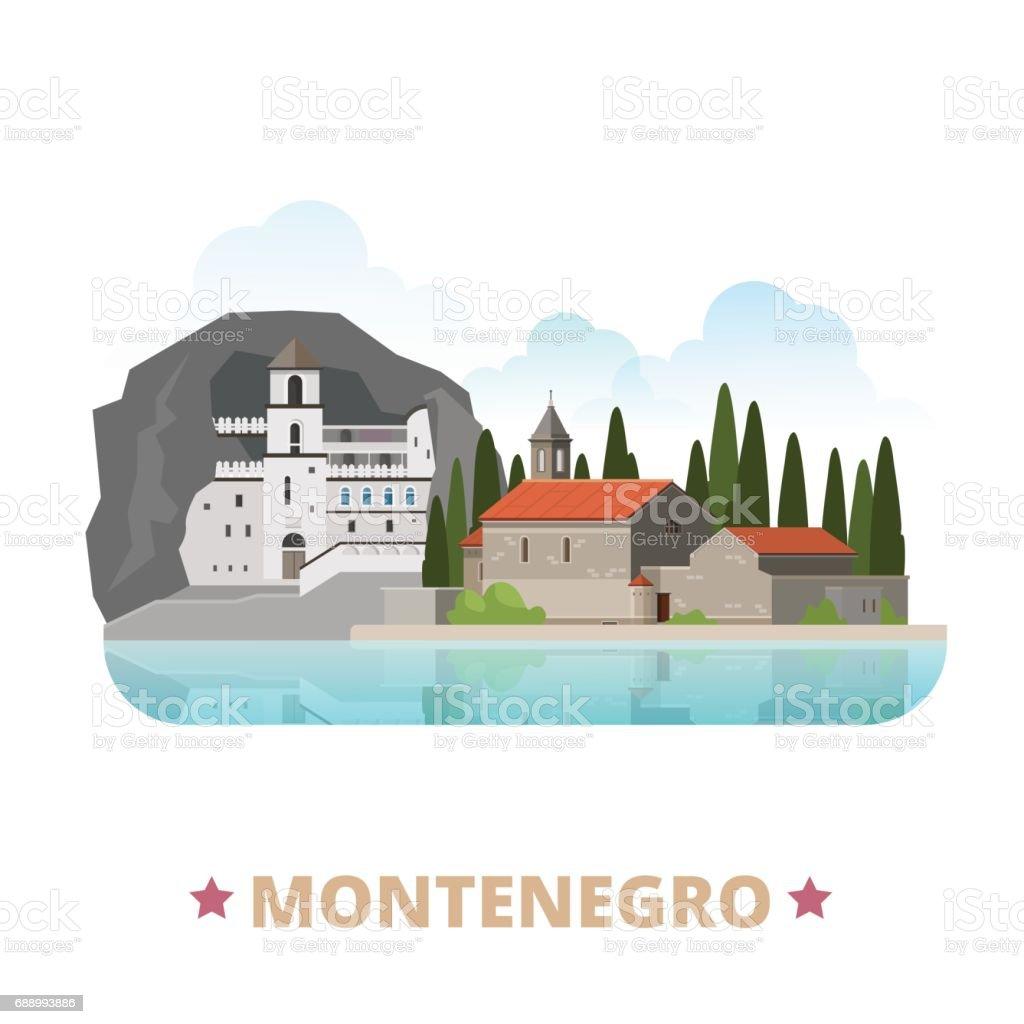 Ilustración de Plantilla De Diseño De País De Montenegro Plano De La ...