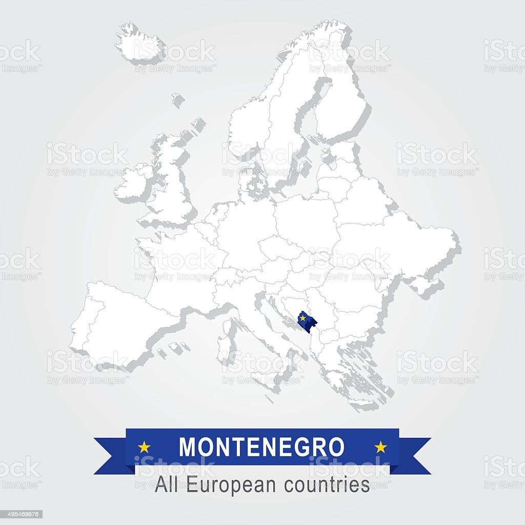 Montenegro Europe Administrative Map Stock Vector Art More Images