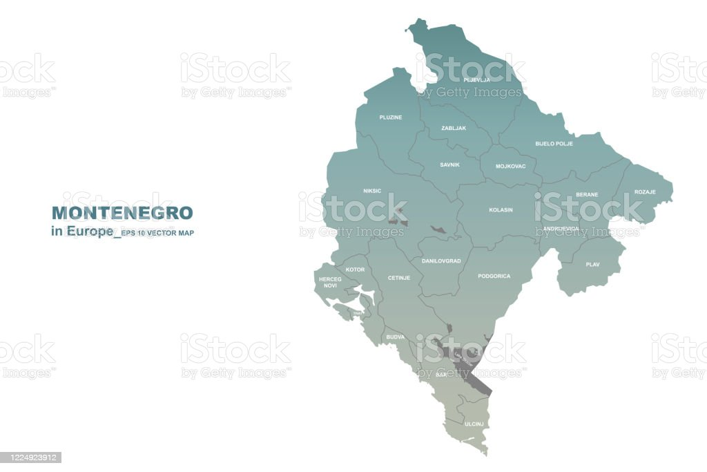 Picture of: Montenegro Map Vector Map Of Montenegro In Europe Country Stock Illustration Download Image Now Istock