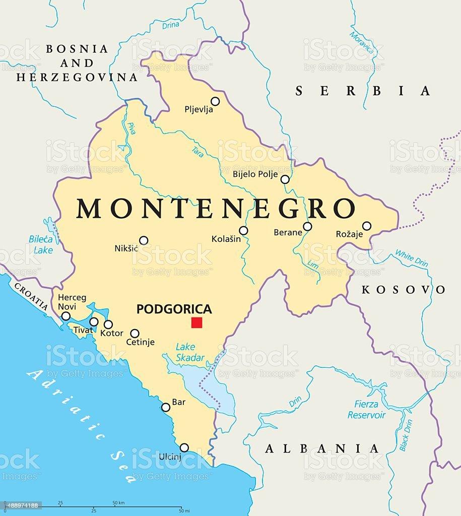 Bar Montenegro Karte.Montenegro Politische Karte Stock Vektor Art Und Mehr Bilder