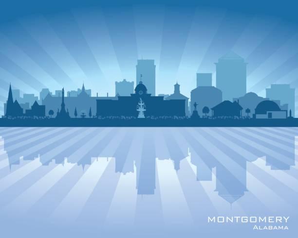 montgomery alabama city skyline silhouette - alabama stock illustrations