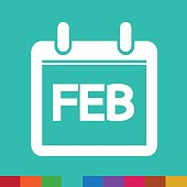 Month Calendar Icon  illustration sign design style