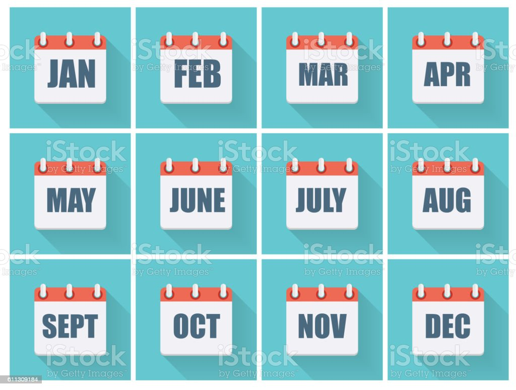 Month Dates Flat Icon ...