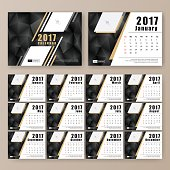 12 month desk calendar template