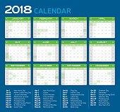 Monthly Calendar 2018