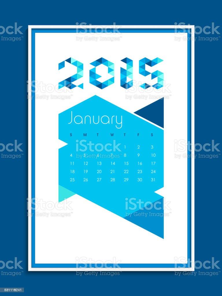 Calendario Anno 2015 Mensile.Calendario Mensile Di Felice Anno Nuovo 2015 Festa