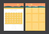 Monthly Planner and Week Planner Set