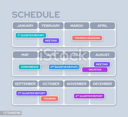 Monthly Scheduling and Planner Design