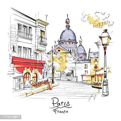 istock Montmartre in Paris, France 1174129871