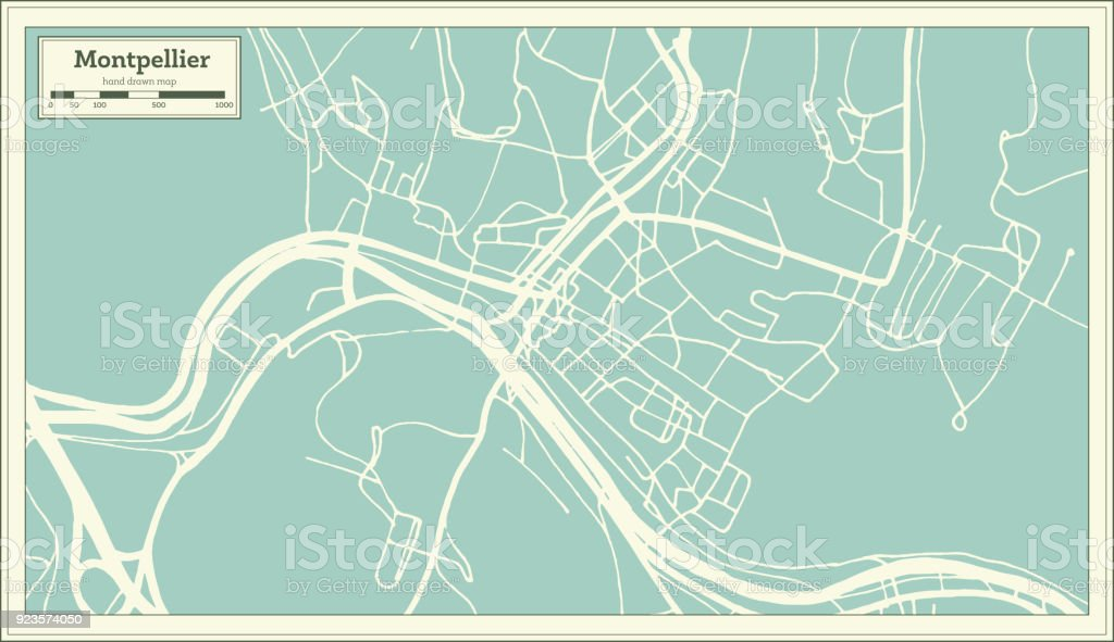montpelier vermont usa city map in retro style outline map royalty free montpelier