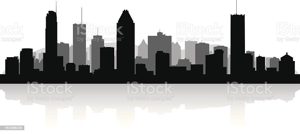 Montreal Canada city skyline vector silhouette royalty-free stock vector art