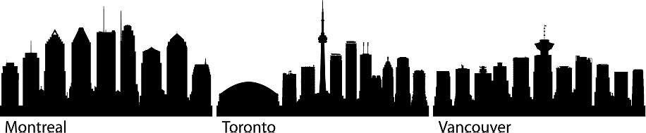 Montreal, Toronto and Vancouver Skylines (All Buildings Are Moveable and Complete)