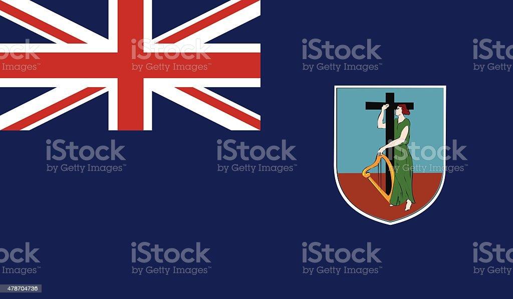 Montserrat Flag vector art illustration