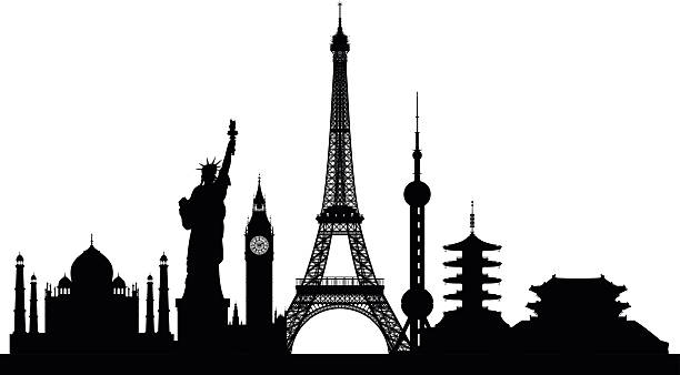 Monuments (Buildings Are Complete and Moveable) Monuments (Buildings Are Complete and Moveable) monument stock illustrations
